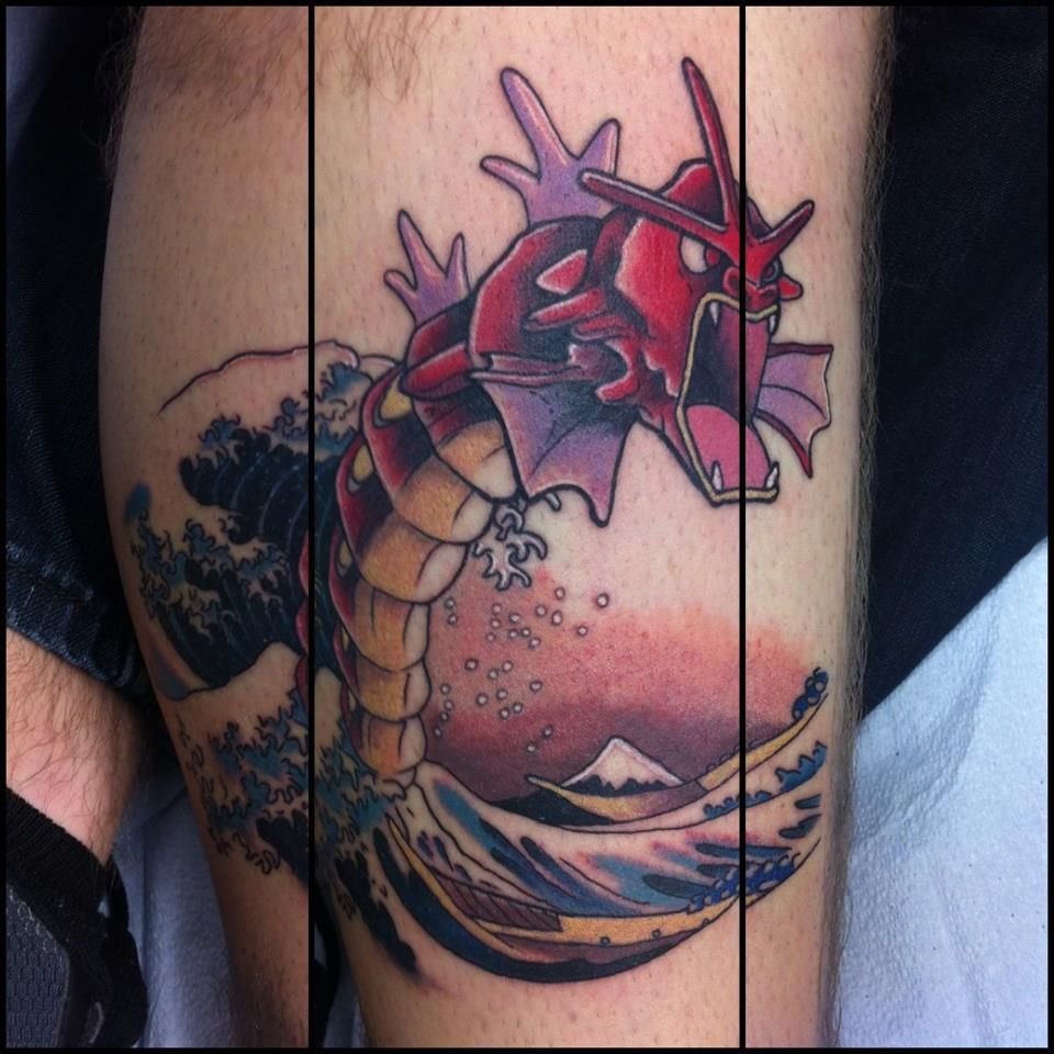 Awesome Gyarados Tattoo Seen On Reddit With Images Tattoos