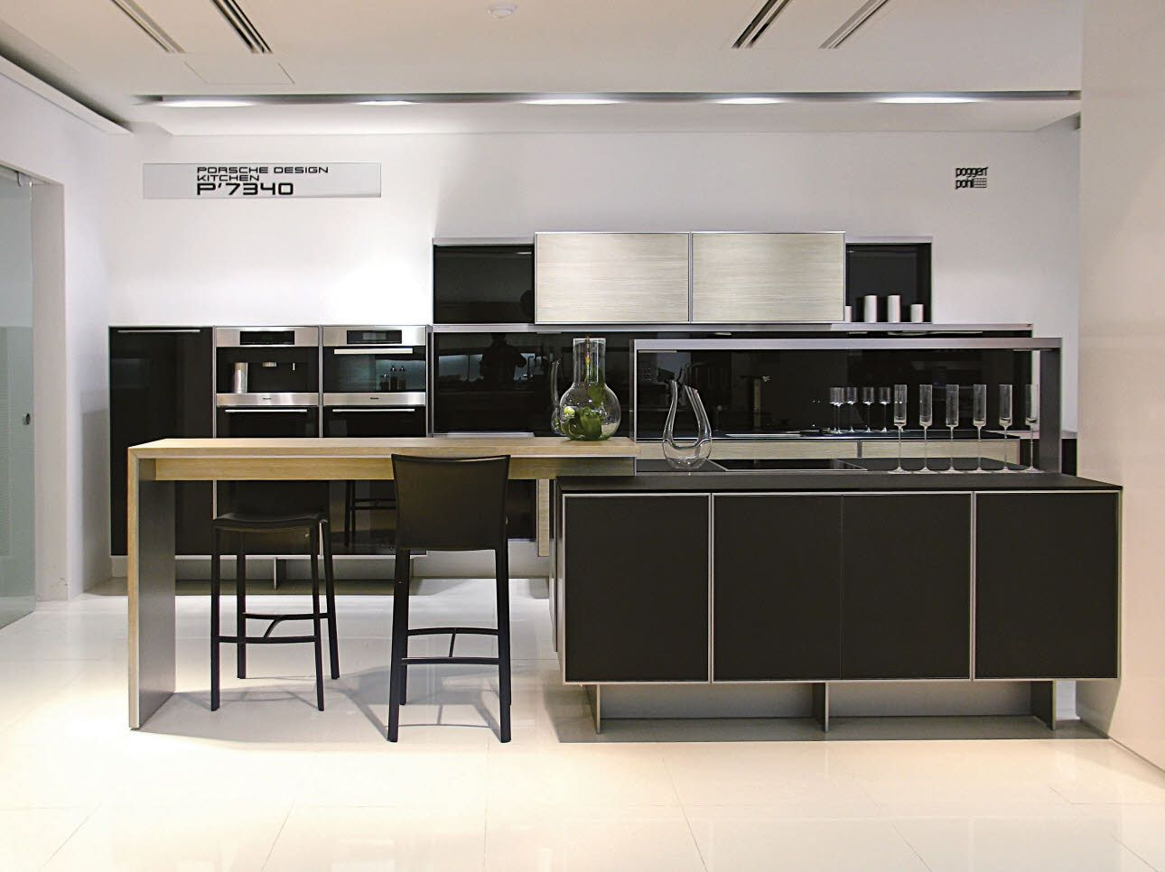 Porsche Design Kitchen at the new Poggenpohl South Korea showroom ...