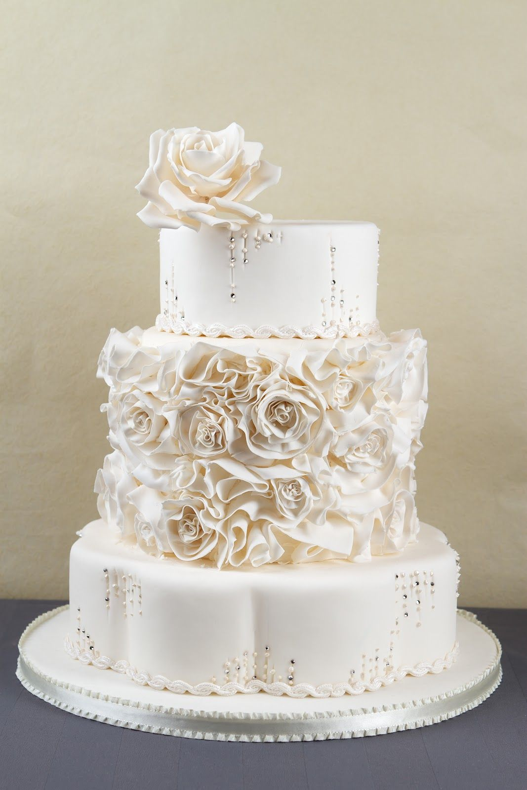 Rose & Crystal Wedding Cake | Cakes Beautiful Cakes for the ...