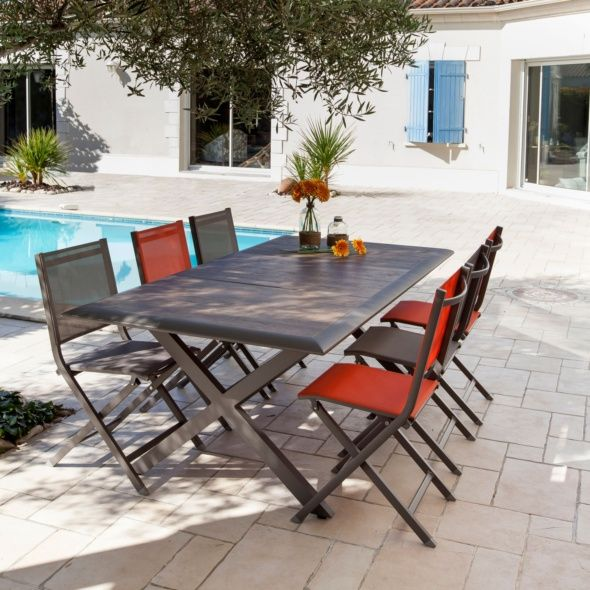 Table De Jardin Ceram Aluminium Plateau Ceramique Cafe