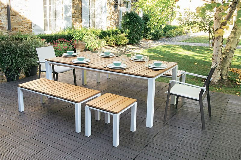 Grande table aux formes simples et modernes ! #Truffaut ...
