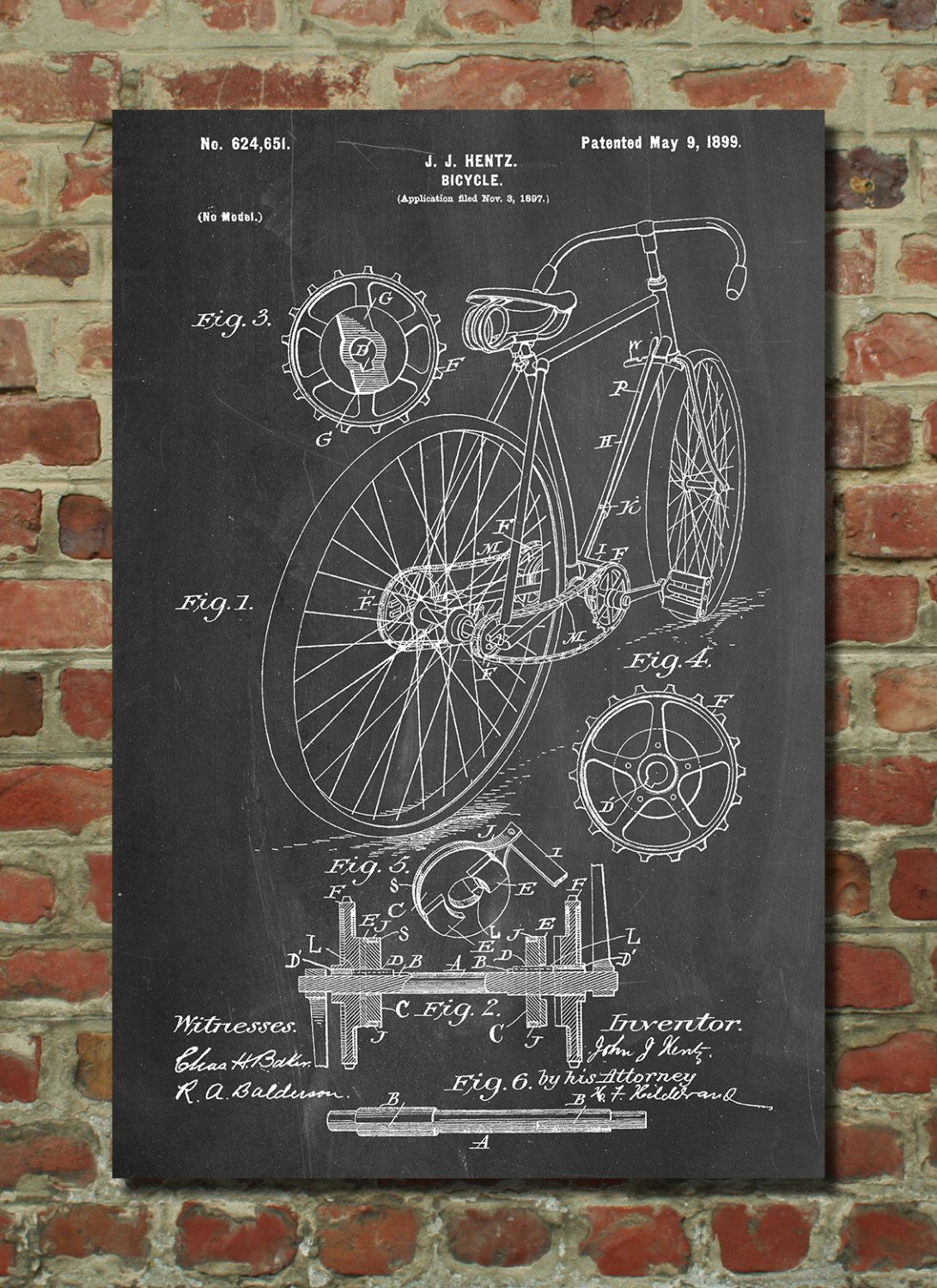 Racing bicycle poster cycling art bicycle print bicycle art patent wall art poster patent art blueprint pp25 by patentprints on etsy httpsetsylisting186783932bicycle 1899 hentz patent wall art malvernweather Gallery