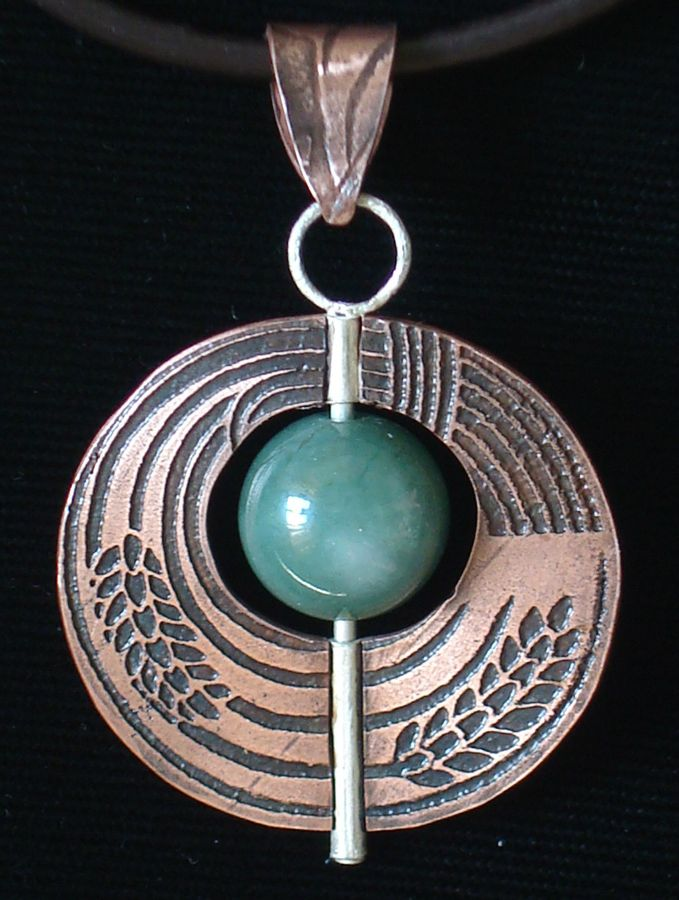 jan-mccune-etched-copper-with-jade-bead.jpg (679×900)