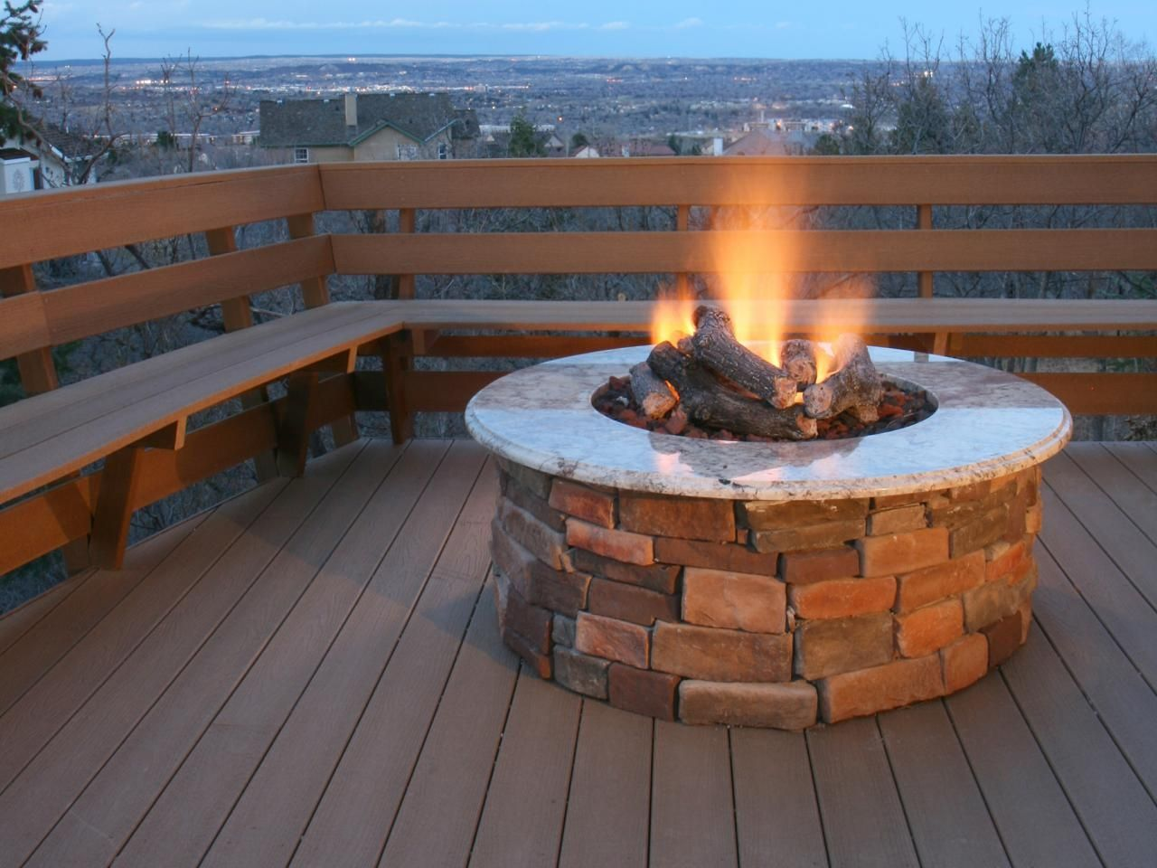 Natural Gas Fire Pit On Wood Deck When You Re Looking Into Adding A Deck To Your Swimming Pool There Are Gas Fire Pits Outdoor Cool Fire Pits Deck Fire Pit