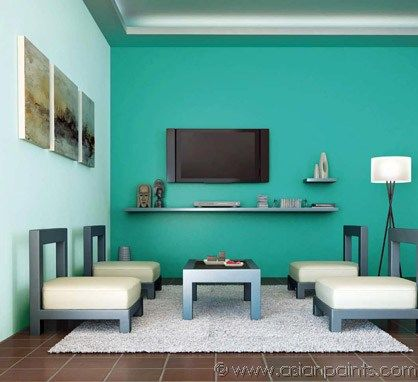 Pin by lis stenner on home decor with color in 2019 room - Designer wall paints for living room ...