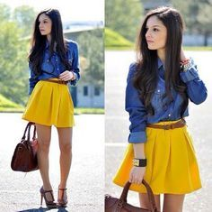 turtleneck with a yellow skirt outfit , Google Search