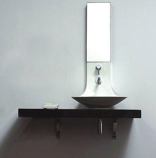 Counter Top Designer Wash Basin With Tap Shelf Mirror