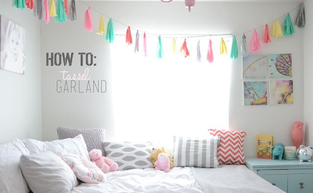 DIY Room Decor ~~~~~~~~~~~~~~~~~~~~~~~~~~DIY Tassel Garland