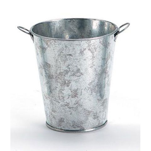 Small Galvanized Metal Floral Bucket In Silver 3 Wide X 4 Tall College Graduation Galvanized Buckets Galvanized Metal Bucket Centerpiece