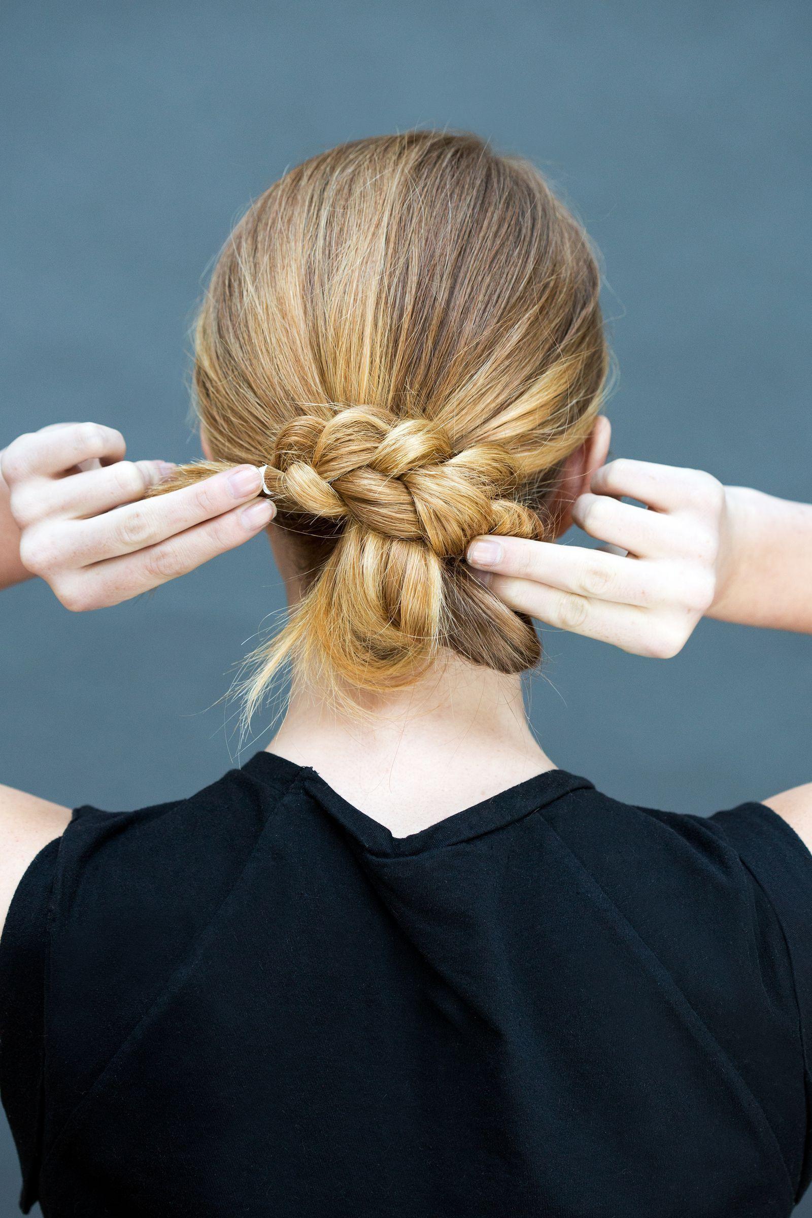 Step make the bun easyhairstyles easy hairstyles in