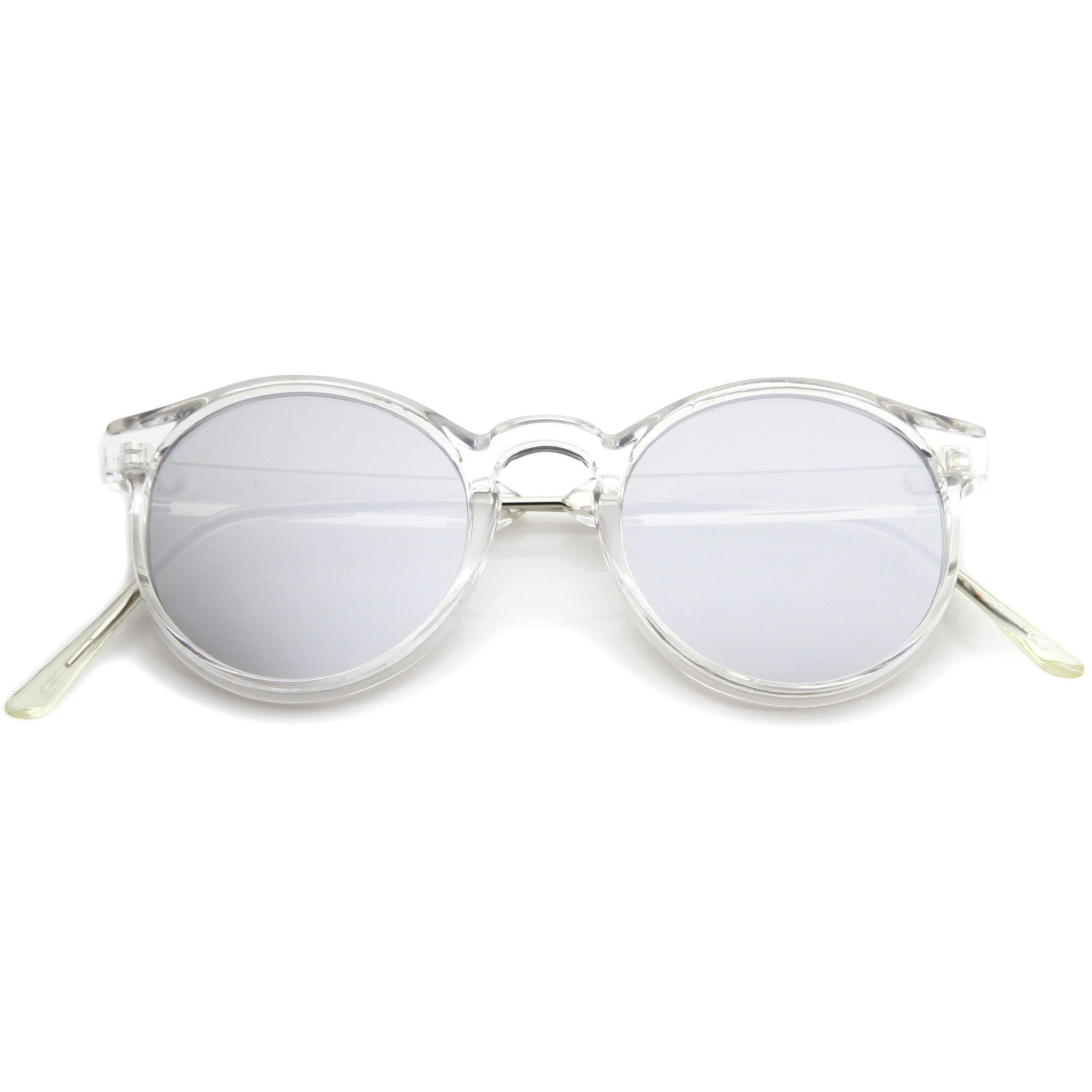 Crystal Clear Round P3 Mirror Lens Sunglasses A464 | Pinterest