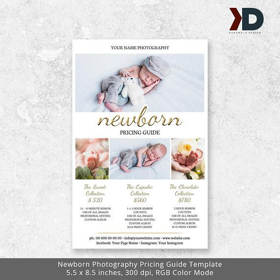 Newborn Photography Pricing Guide Template Photography Price List - Price Sheet Template