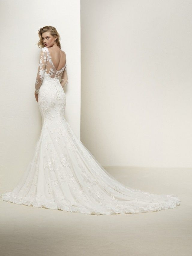 Trouwjurk Pronovias Drakar Love Story Wedding Dresses