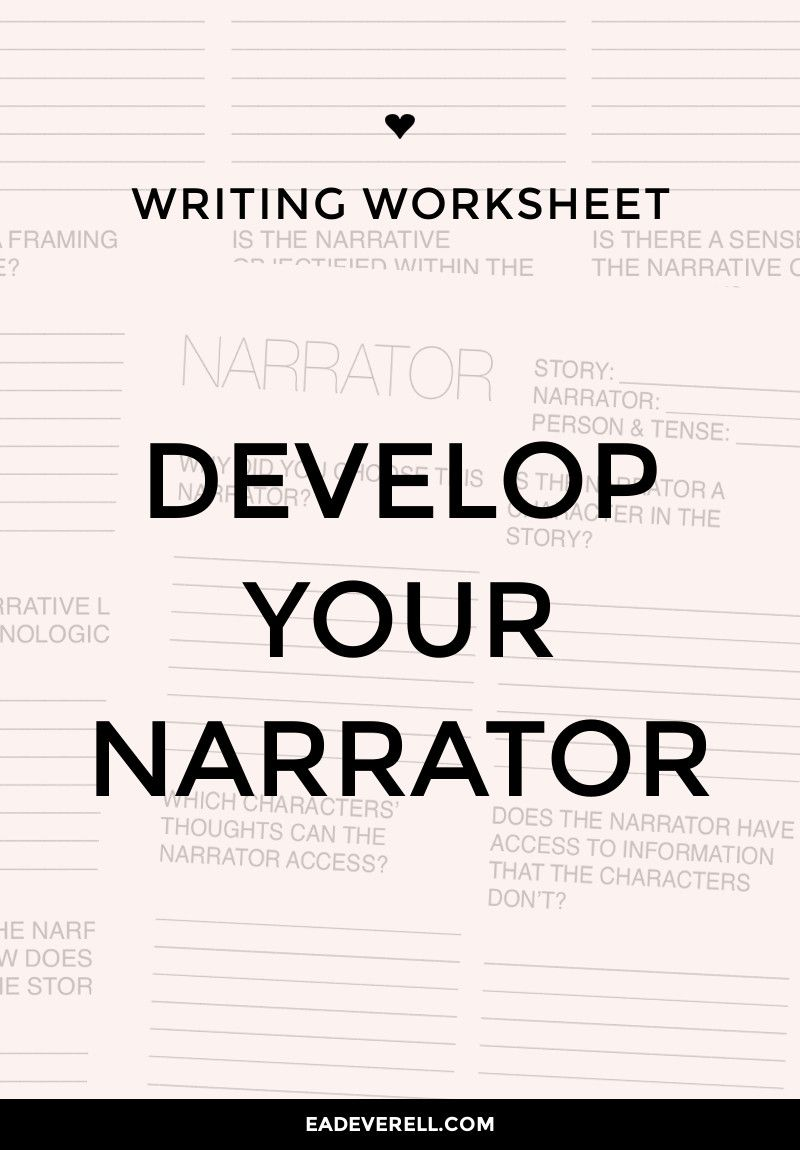Narrator worksheet writing tips and resources pinterest download this writing worksheet pdf weve brainstormed point of view before ibookread ePUb