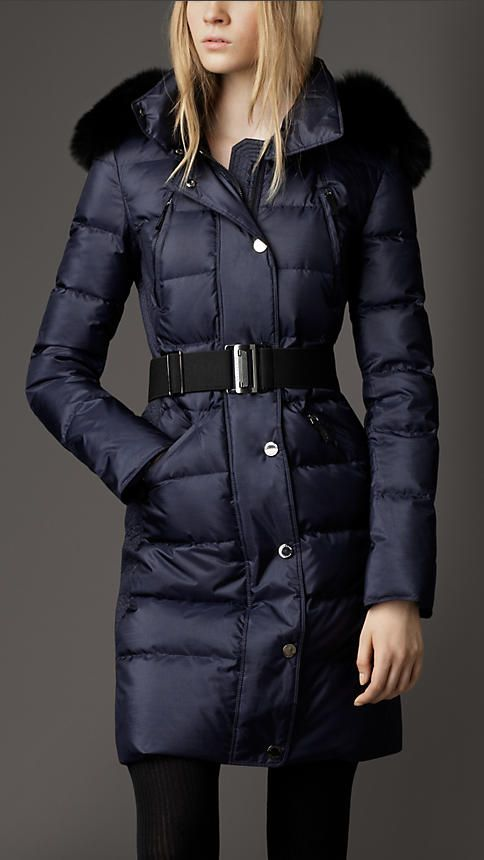 df87f1fc7 Fur Trim Quilted Coat | Burberry | Style in 2019 | Women's puffer ...
