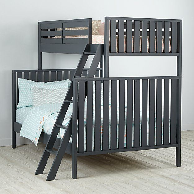 Best Cargo Charcoal Twin Over Full Bunk Bed The Land Of Nod 640 x 480