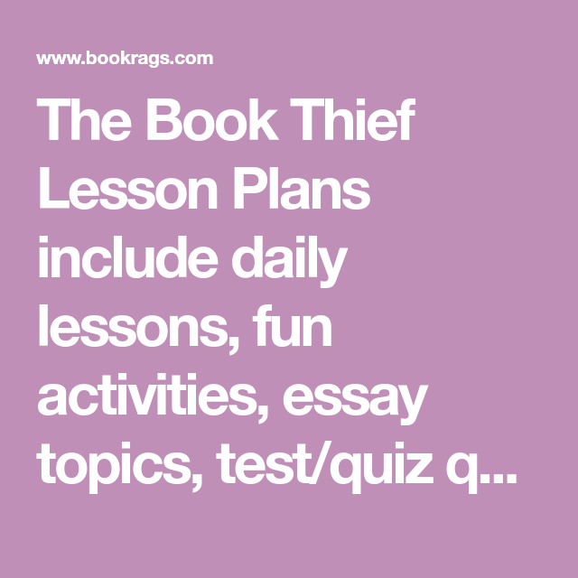 the book thief essay prompts