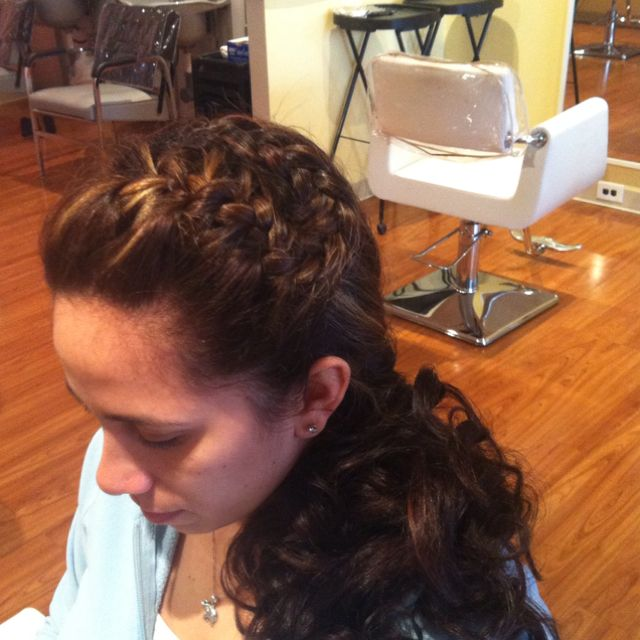 Funky braided bridal style!