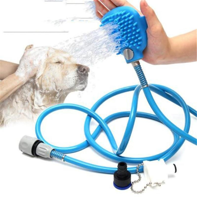 Pet Bathing Comfortable Shower Tool Cleaning Washing Bath Sprayers Dog Brus