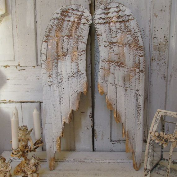 Metal Angel Wings Wall Decor white angel wings wall decor distressed rusty wood and metal hand