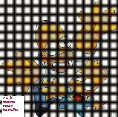 Le père et le fils des simpsons, Homer et Bart en grille gratuite ...