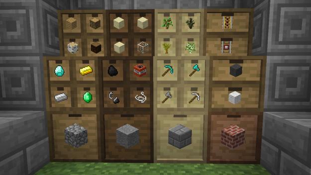 Storage Drawers Minecraft Storage Room Minecraft Storage Storage Drawers