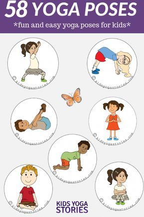 58 fun and easy yoga poses for kids printable posters in