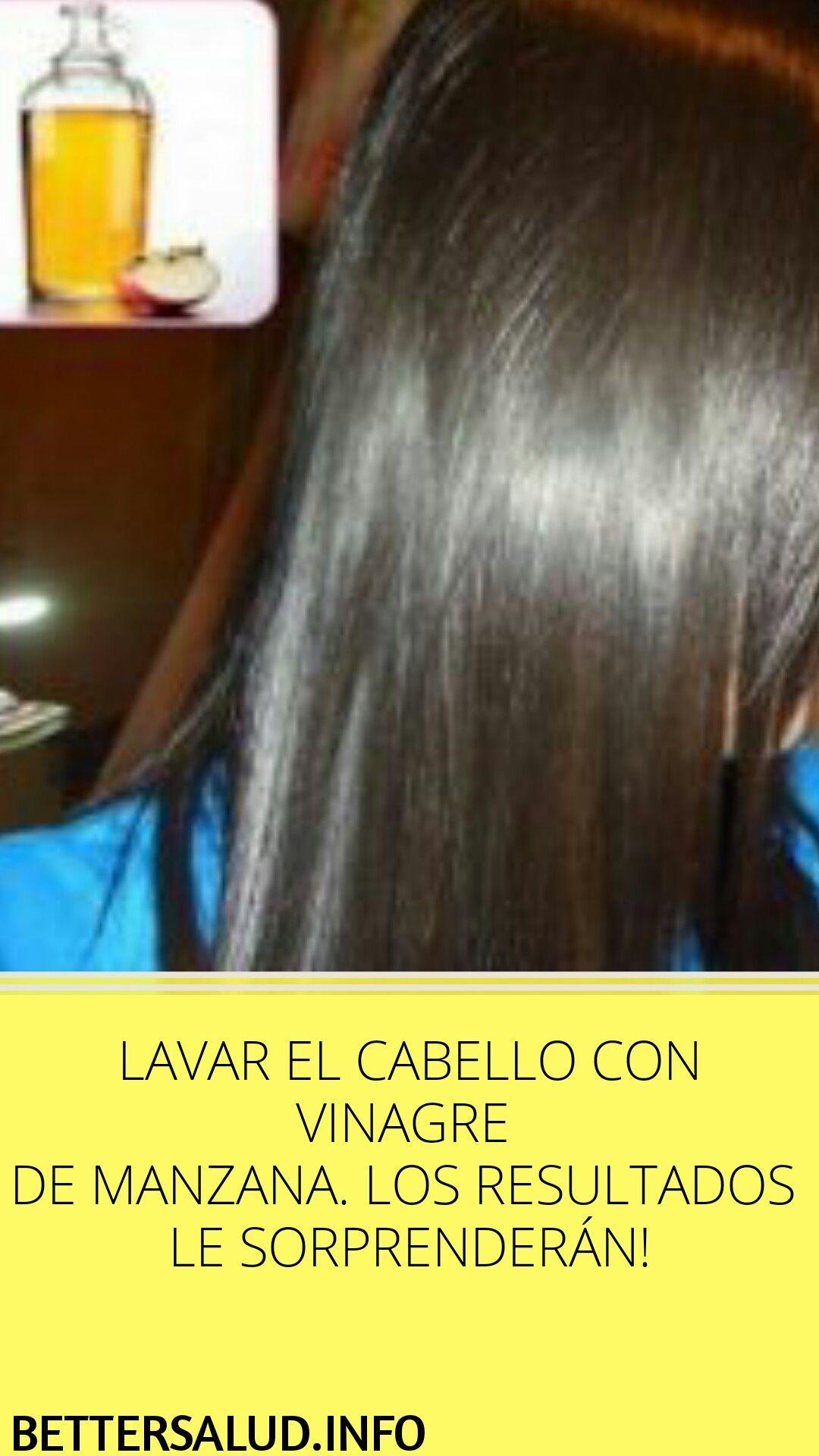 Lavar El Cabello Con Vinagre De Manzana Los Resultados Le Sorprenderán Lavar Cabello Manzana Resultados Hair