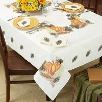 Duftin Harvest Tablecloth Stamped Cross-Stitch