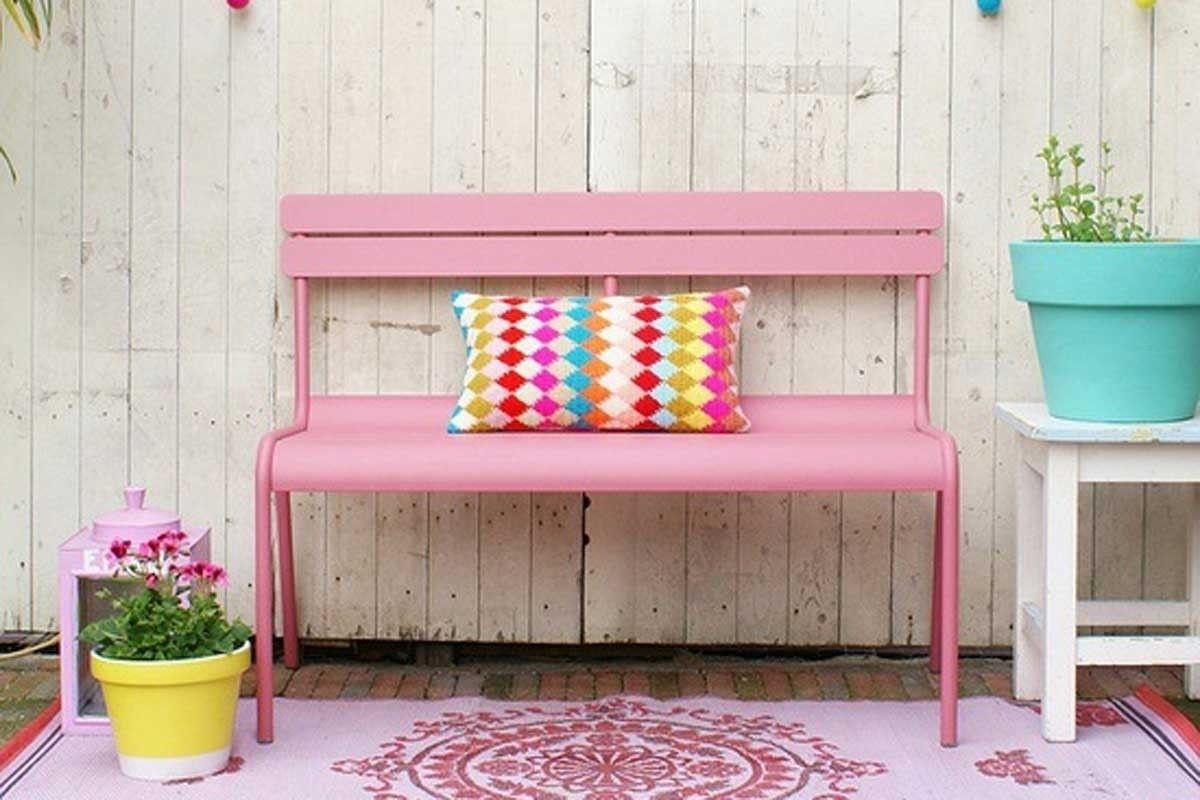 Luxembourg Outdoor Bench Pretty In Pink