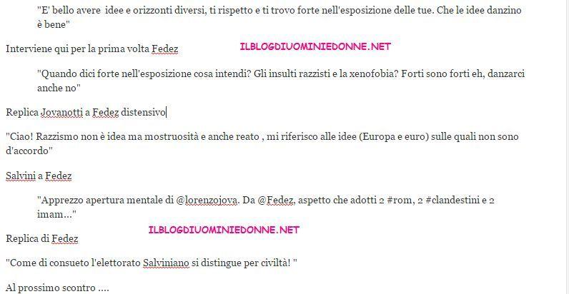 Jovanotti e Fedez si confrontano su Twitter