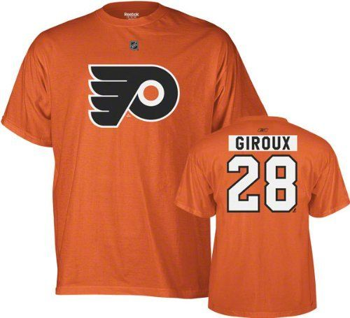 3af53051 Claude Giroux Philadelphia Flyers T shirt, made by Reebok the official  authentic on-ice producers of NHL apparel and jerseys.