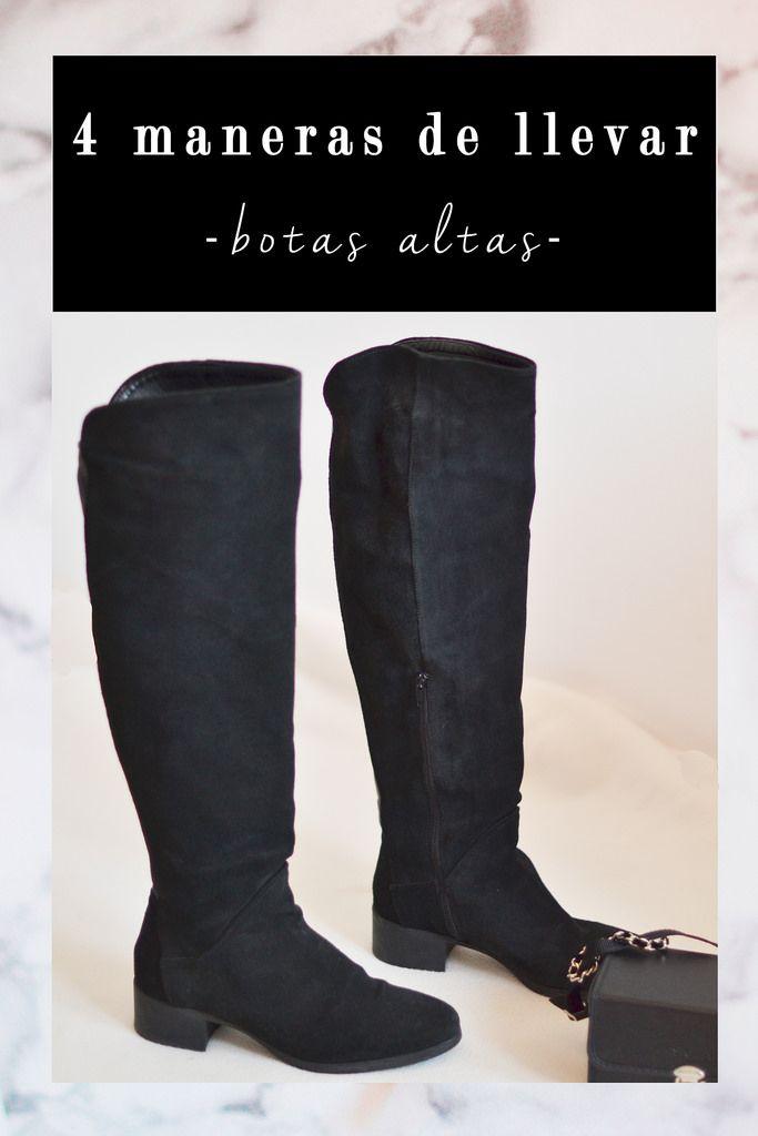 617cb88cf05b7 4 maneras de llevar botas altas negras