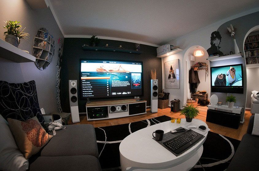 a modern home entertainment setup 2012 interior design living room design ideas interior