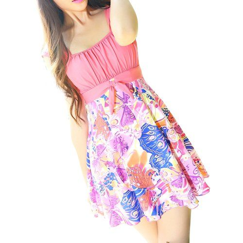 modest one piece swimdress ~ butterfly floral dress swimsuit your