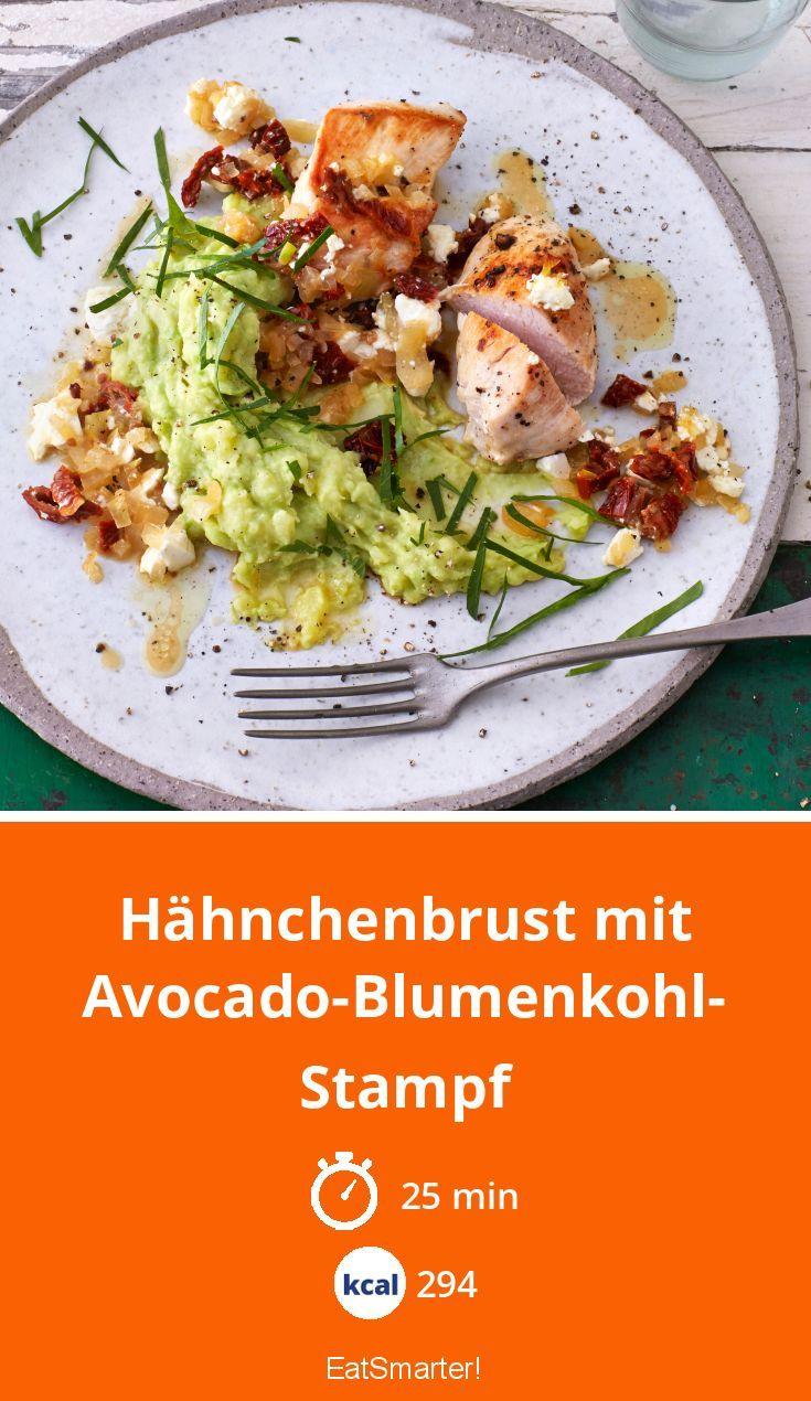 Photo of Hähnchenbrust mit Avocado-Blumenkohl-Stampf