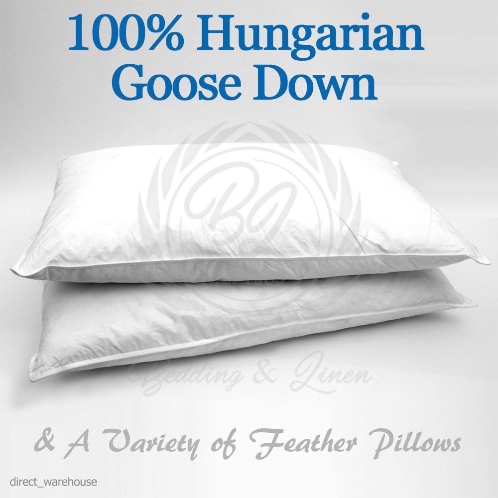 100% Hungarian Goose Down Pillow