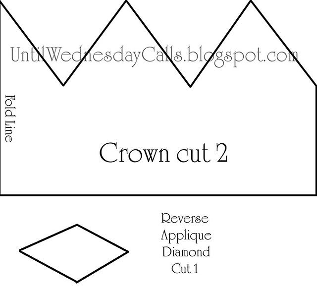Felt Crown Pattern1 by CaraMia, via Flickr Templates - crown template