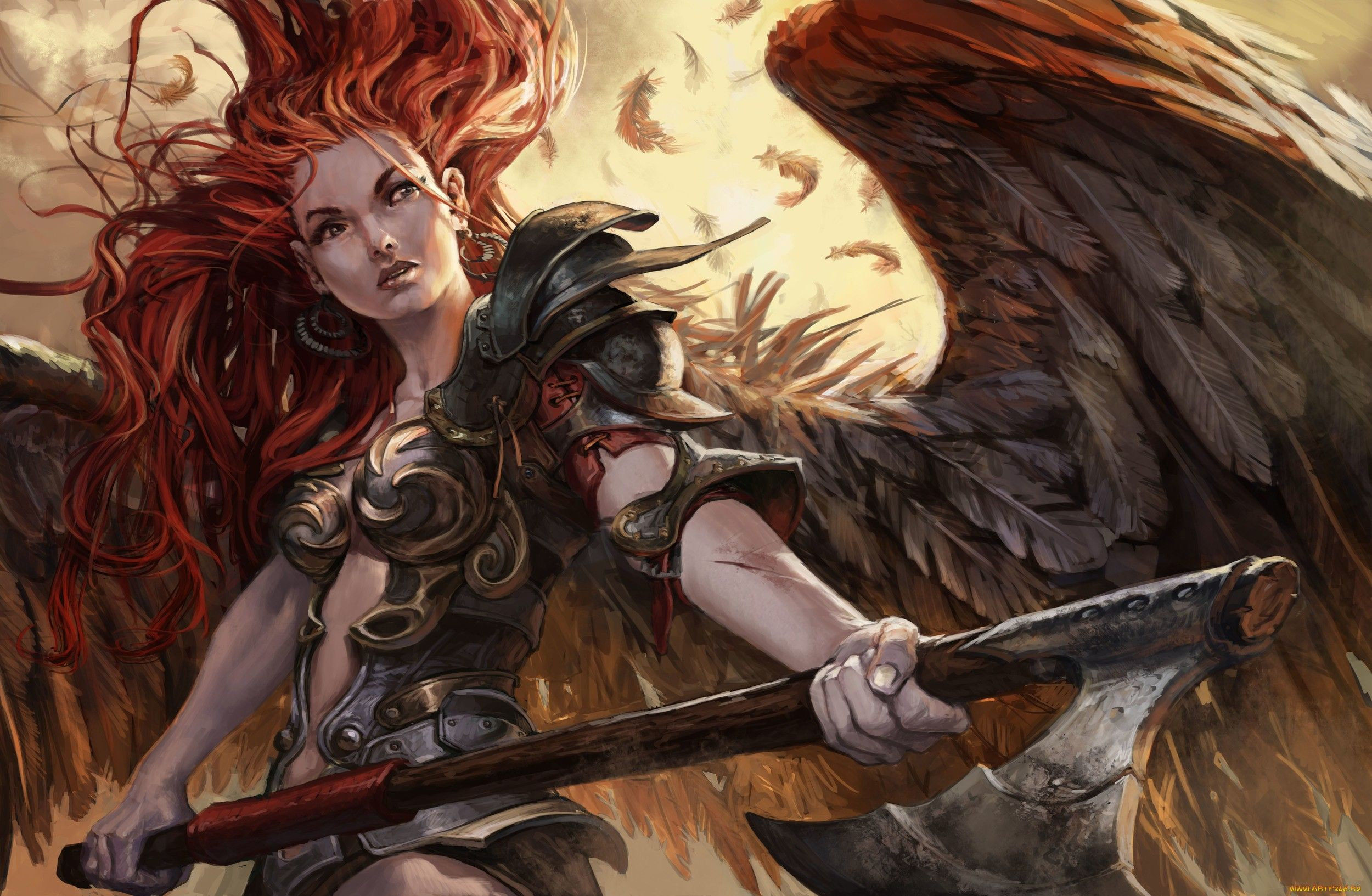 Red Head Angel Fantasy Warrior Fantasy Art Angels Fantasy Art Fantasy Girl