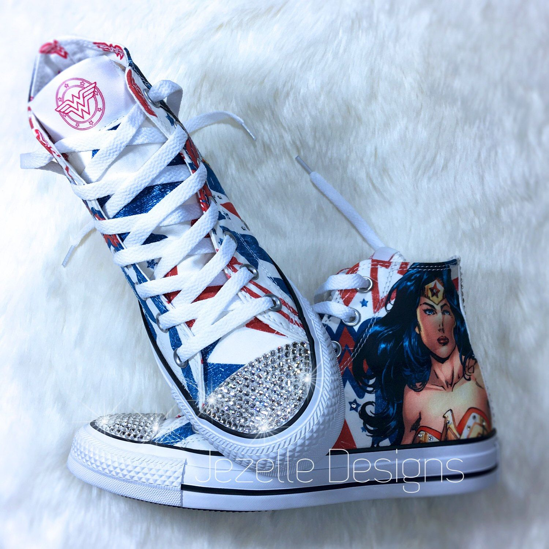 Limited Edition! Bling Wonder Woman DC Comics Converse hi
