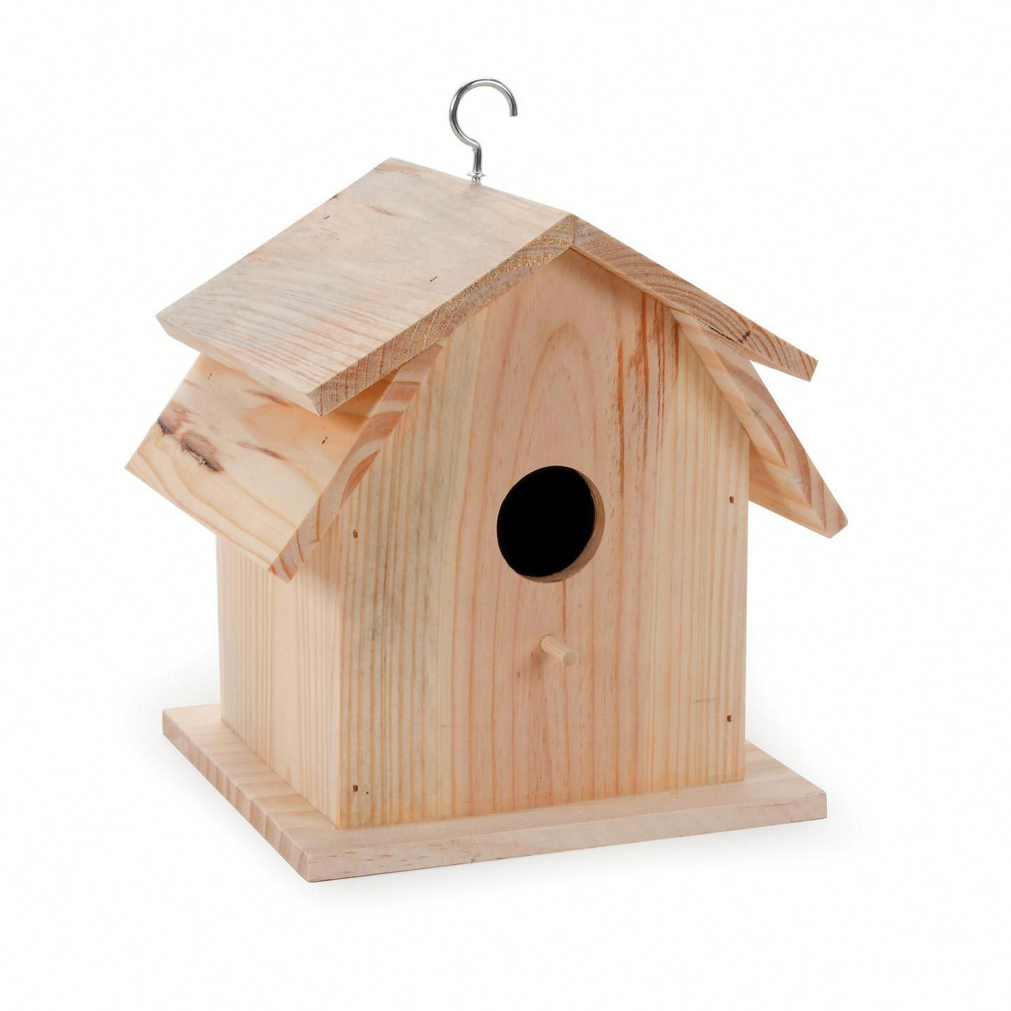 This Barn Style Unfinished Bird House Features A Double Roof Match Your Home Or Your Garden You Can Decorate Bird House Wood Birdhouses Wooden Bird Houses