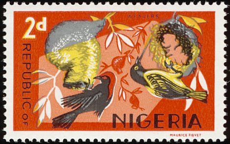 Red-headed Malimbe stamps - mainly images - gallery format