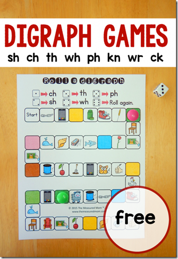 Consonant Blends - free printable game for kids learning digraphs ...
