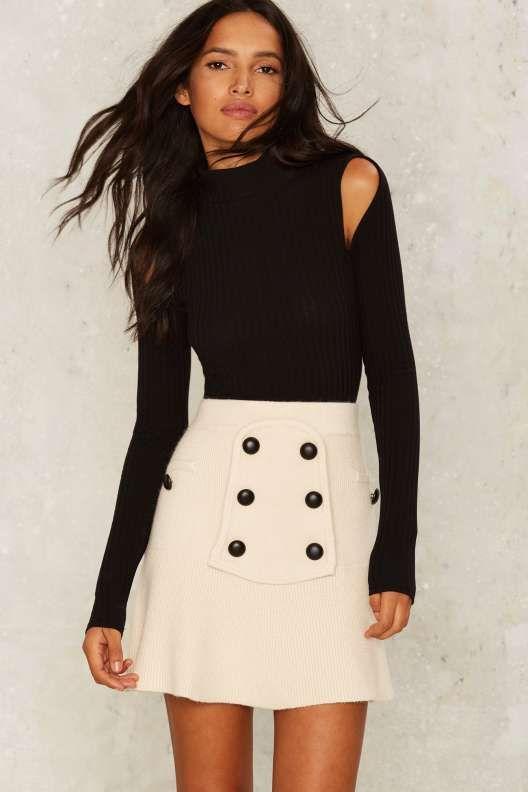 Ivy League Knit Skirt - Bottoms