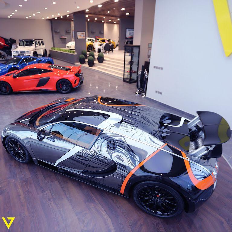 Absurdly Wrapped Bugatti Veyron Super Sport For Sale In: 2014 Bugatti Veyron Super Sport, Riyadh Saudi Arabia