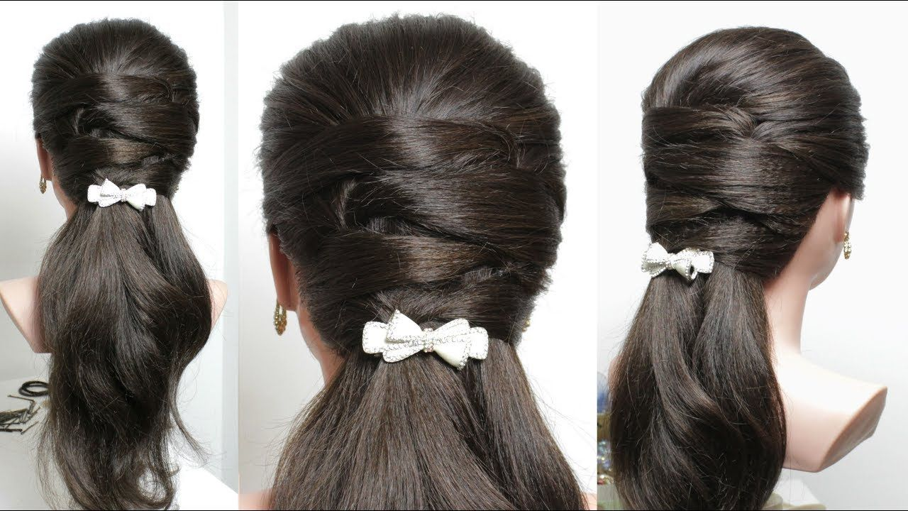 Easy Everyday Hairstyle For Long Medium Hair Youtube Easy Everyday Hairstyles Medium Hair Styles Hair Styles
