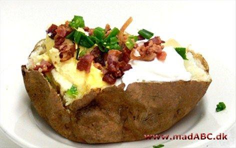 Bagte kartofler med lækkert fyld