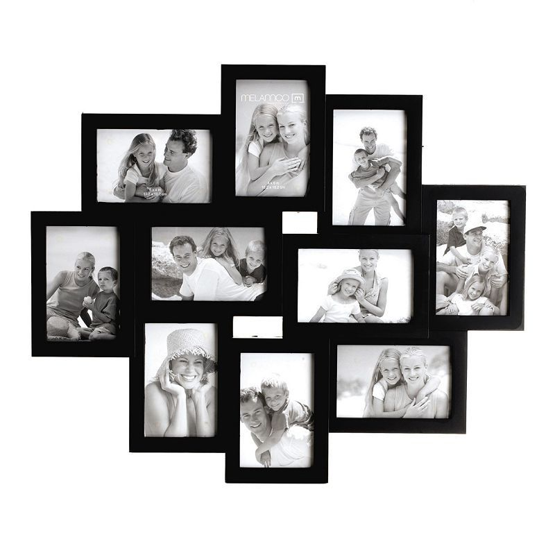 Melannco 10 Opening 4 X 6 Collage Frame Black Frames On Wall Picture Frames Wood Picture Frames