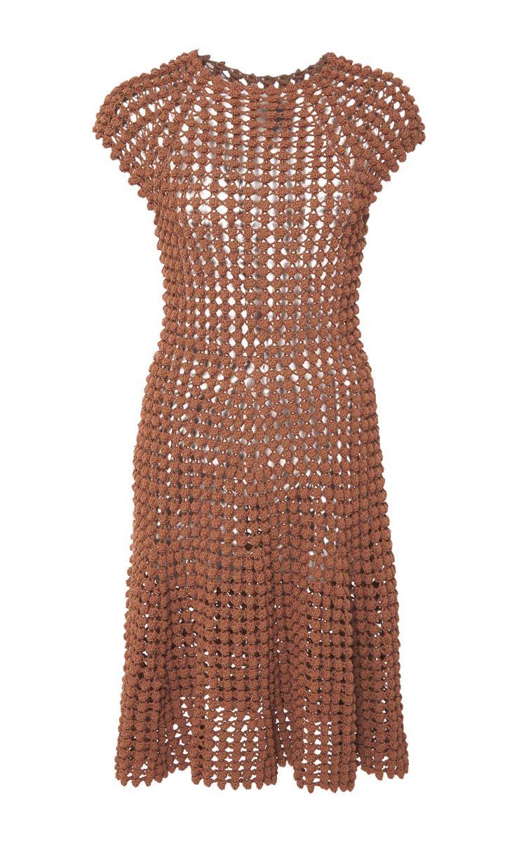 Popcorn Stitch Mini Dress by HELEN RöDEL for Preorder on Moda ...