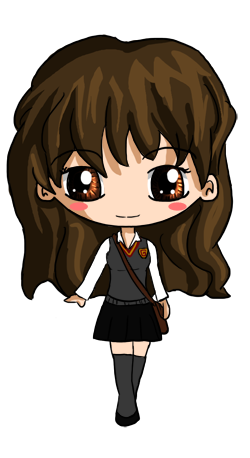 how to draw hermione granger chibi